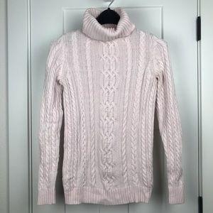 Croft & Barrow XS pink knit turtleneck sweater